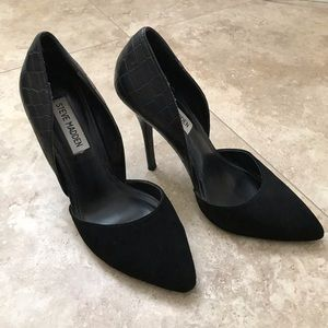 Black Steve Madden stiletto pumps